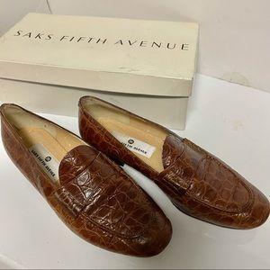 Vintage Saks Fifth Avenue Italian Leather Loafers